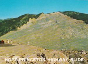 Canada British Columbia Hope-Princeton Highway Slide