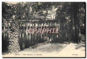 Postcard Old Paris Parc Monceau Colonnade