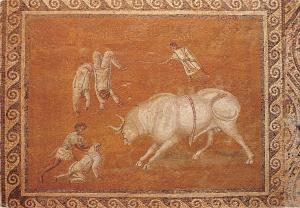 BT2858 Libyan arab jamahiriya mosaic of villa seine    libia lybia