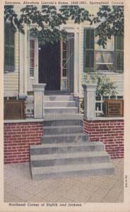 Illinois Springfield Entrance Abraham Lincoln's Home Curteich