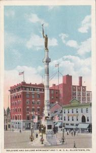 Pennsylvania Allentown Soldiers and Sailors Monument & Y M C A Building