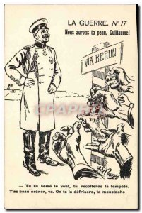 Old Postcard Militaria We will have your skin Guillaume