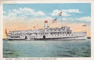 Steamer Toronto, St. Lawrence River, Thousands Islands, PU-1923