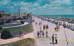 Ocean Front Park Looking Toward Band Shell Daytona Beach Florida 1955