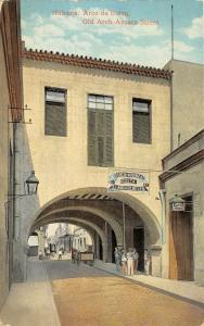 Havana Cuba c1910 Postcard Arco De Belen Old Arch Acosta Street