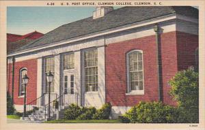U. S. Post Office, Clemson College, South Carolina, 30-40s