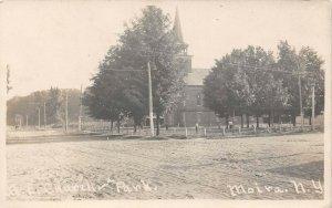 LP50  RPPC  Moira New York M. E. Church Park