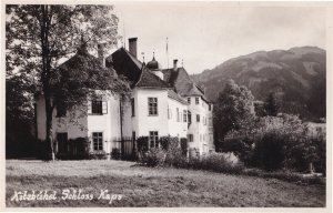 Kitzbuhel Schloss Kaps Austria Real Photo Old Postcard