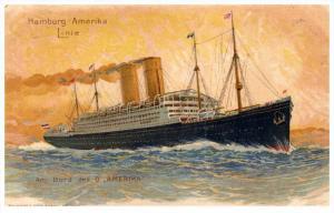 8487    S.S . Amerika   Hamburg-Amerika Linie