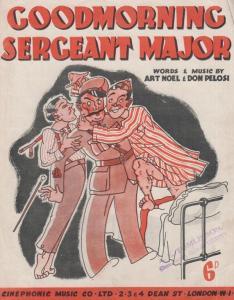 Goodmorning Sergeant Major Art Noel 1940s Sheet Music