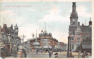 Blackpool Talbot Square Tram Vintage Cars 1905