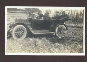 RPPC REELFOOT LAKE TENNESSEE OTTER LODGE ANTIQUE AUTO CAR REAL PHOTO POSTCARD
