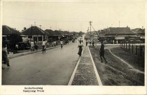 indonesia, JAVA BATAVIA, Tandjong Priok, Zuiderboorweg (1937) RPPC Stamps