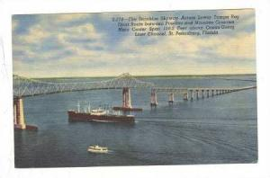 The Sunshine Skyway acroos Lower Tampa Bay, St. Petersburg, Florida, 30-40s