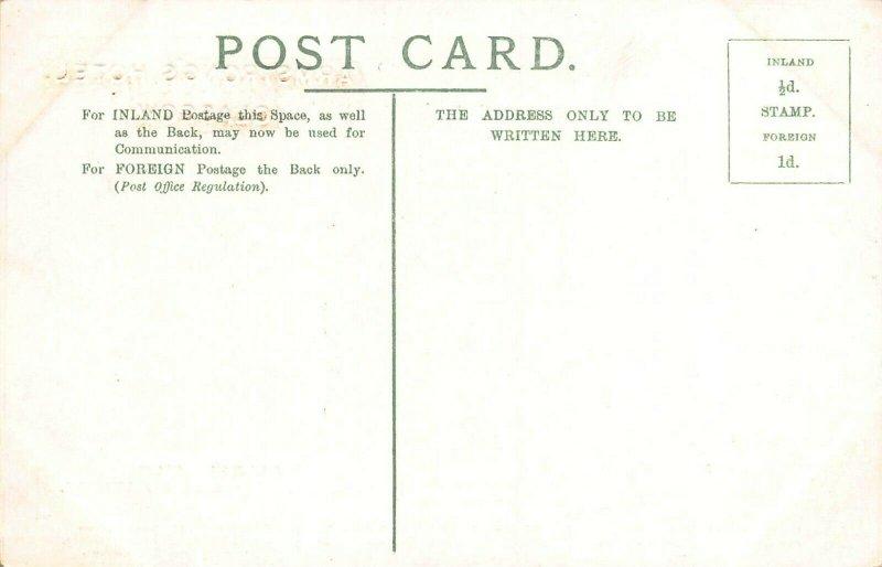 LOCH KATRINE SCOTLAND~ELLEN'S ISLE~ARMSTONGS HOTEL GLASGOW POSTCARD