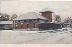 DL&W Depot - Train Station at Cortland NY, New York - pm 1909 - DB