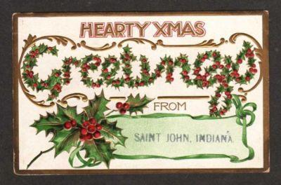 IN Hearty Xmas Greetings from SAINT JOHN INDIANA PC