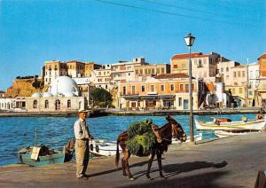 Greece Canea The Port Boats Bateaux Harbour Donkey