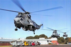 Postcard 3 Sea King MK7 Helicopter Aircraft , HMS Sultan, Gosport, Hampshire 6L