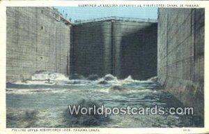 Filling upper Miraflores Lock Panama Canal Panama Unused