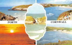 Vintage Postcard CORNWALL Porth Multiview by H. Barton & Sons