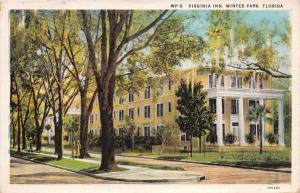 WINTER PARK FL THE VIRGINIA INN HOTEL BEAUTIFUL FLORIDA SERIES POSTCARD 1932