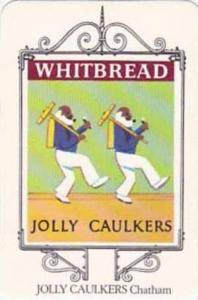 Whitbread Brewers Vintage Trade Card Maritime Inn Signs 1974 No 20 Jolly Caul...