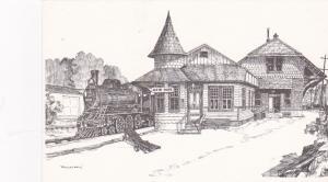 NEW HOPE , Pennsylvania, 1940s ; Railroad Station