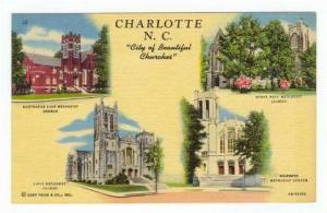 4-Views, City of Beautiful Churhes, Charlotte, North Carolina, 20-40