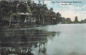 Lake view facing camp nepahwin, Canton,Pennsylvania, PU-00-10s
