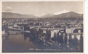 Switzerland Geneva Le Rhone et vue sur la ville Photo