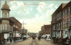Calais ME Main St. Stores 1912 Used Postcard