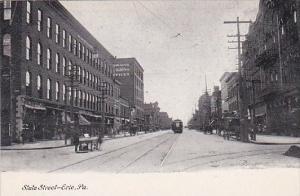 Pennsylvania Erie Trolley On State Street