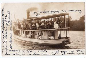 RPPC, Steamer Fanny M Rose, Grand Haven MI - Grandville MI
