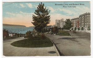 Riverside Drive Hudson River New York City 1921 postcard