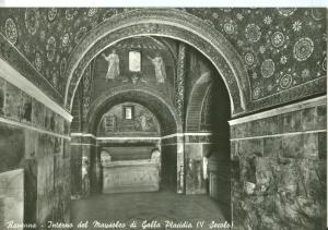 Italy, Ravenna, Interno del Mausoleo di Galla Placidia, unused real photo