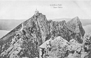 Gibraltar Signal Station, Rock, Mountain Peak, Panorama