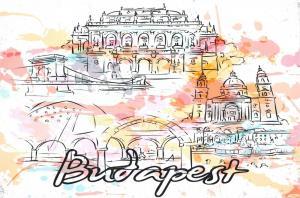 Fine Art Quality Postcard, Budapest, Hungary, Landmarks, City, View, Travel 83H