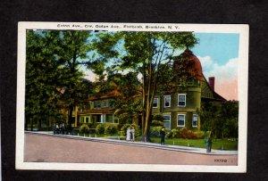 NY Caton Ave. Flatbush Ocean Ave Brooklyn New York City NYC Postcard