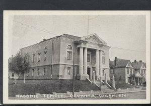 America Postcard - Masonic Temple, Olympia, Washington    T9277