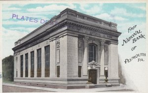 PLYMOUTH , Pennsylvania , 00-10s ; First National Bank