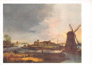 BR12713 moulin a vent wind mill painting postcrad russia