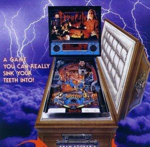 Dracula Pinball FLYER Bram Stokers 1993 Original Art Horror Halloween Williams