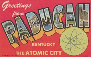Large Letter Greetings PADUCAH , Kentucky , 30-40s