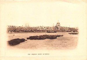 Thames with St Pauls London United Kingdom, Great Britain, England Unused
