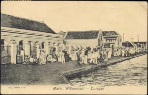 curacao, N.W.I., WILLEMSTAD, Market Scene (1919)