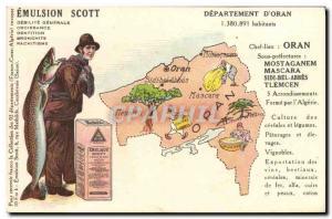 Old Postcard geographical maps Emulsion Scott Oran Algeria