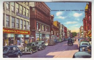 P566 JLs 1930-45 unused linen woolworths 5 & 10c store, old cars haverhill mass