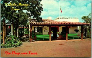 SIX FLAGS OVER TEXAS Postcard CASA DE REGALOS Exterior View c1960s Plastichrome