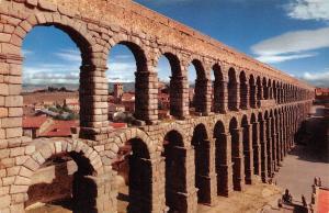 Spain Segovia Roman Aqueduct Aqueduc Romain Acueducto Romano